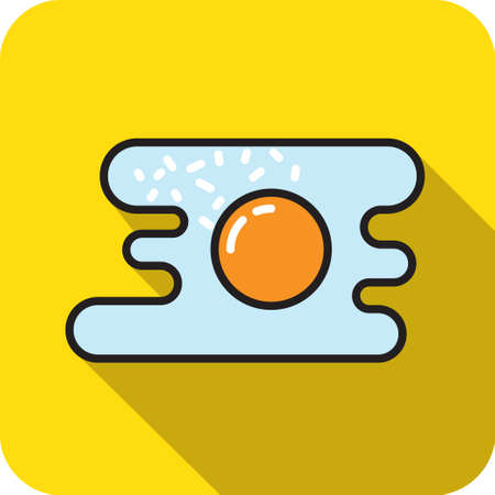 colored egg: colored egg fried icon at isolated background flat style Illustration