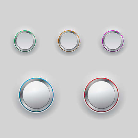rim: Set of interface buttons with colored rim