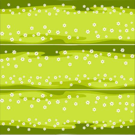 senza soluzione di continuità prato modello orizzontale con margherite isolate