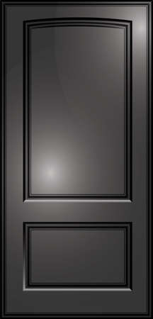 panes: paneled doors of dark color on the isolated background Illustration