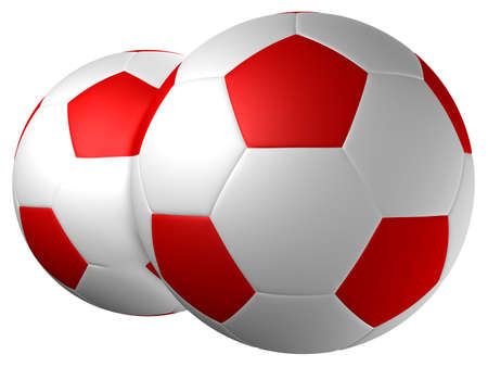 Football twins. Use it as unique design or representing each ball one opponent in the game. Stock Photo - 844147