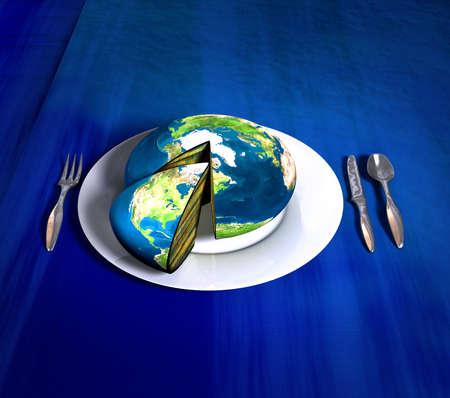 aligned: Earth cake - america