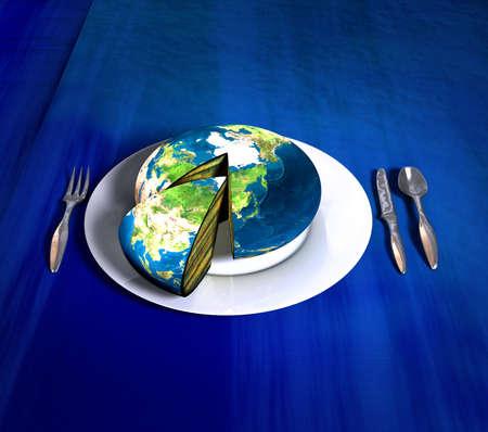 Earth cake - Asia photo