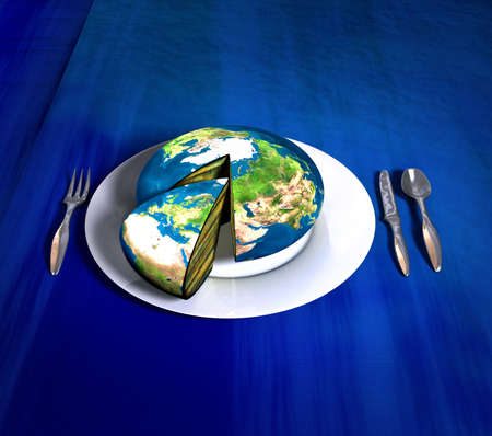 Earth cake - Europe Africa photo