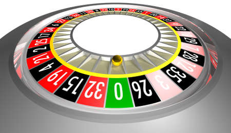 rotations: Silver electronic roulette on a white background. High resolution.