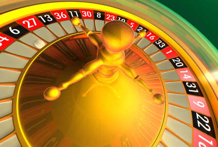 bankroll: Roulette with more atmosphere reflections. Stock Photo