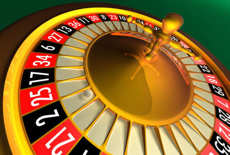 risiko: Roulette in perspective Stock Photo