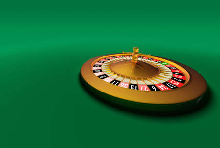 Compact electronic Roulette on a green background. Very high resolution.