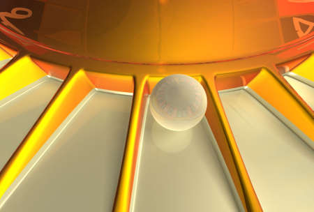 risiko: Close up of roulette ball with nice reflections on the ball. Stock Photo
