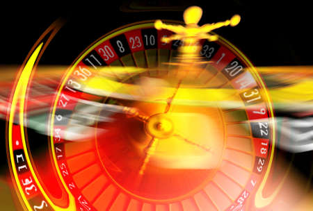 flaw: Roulette illustration with wheel in very fast motion.