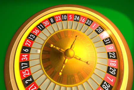 bankroll: Roulette with less atmosphere reflections. Stock Photo