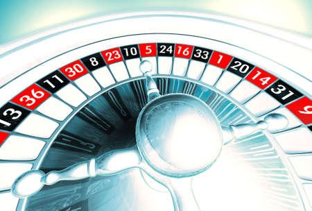 Argent roulette illustration  Banque d'images