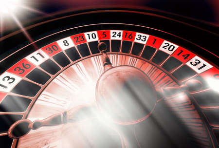 Roulette illustration with different color atmosphere and light streaks