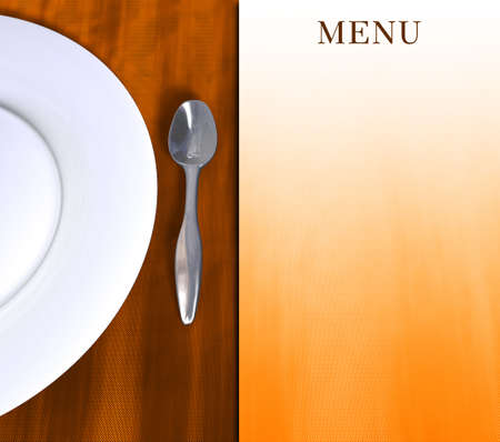 Simple image for use in menu compositions for restaurants or other kind of design.