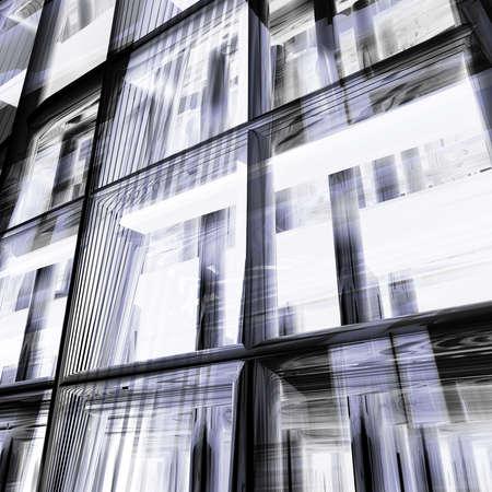 D�tail structure moderne en m�tal avec beaucoup de reflets et les ombres. Tr�s d�taill� avec �clairage arri�re. Composition wit quelques r�flexions en verre bleu environnement.