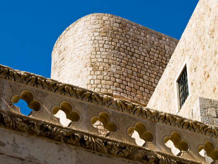 Detail of Dubrovnik city walls. Fortress  photo