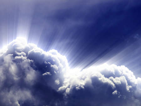billowing: Clouds on the blue sky - background or just clouds
