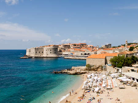 dubrovnik: Dubrovnik old town panorama. Summer sunny day. Stock Photo