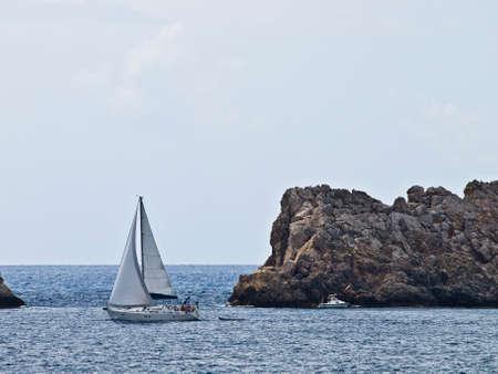 adriatic: Sailboat sailing in the Adriatic near Dubrovnik