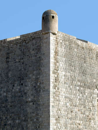Dubrovnik old town city walls fortress detail. Stock Photo - 1718639