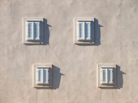 Windows on the old house in Dubrovnik, Croatia photo