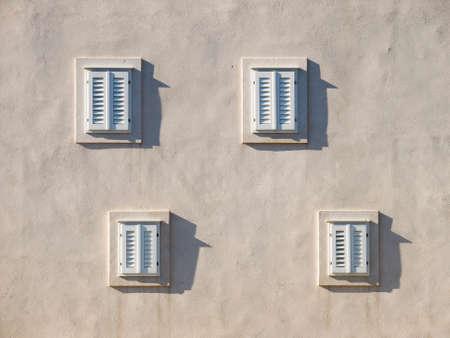 dubrovnik: Windows on the old house in Dubrovnik, Croatia