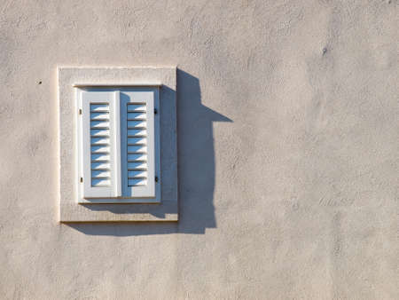 Window on the old house in Dubrovnik, Croatia