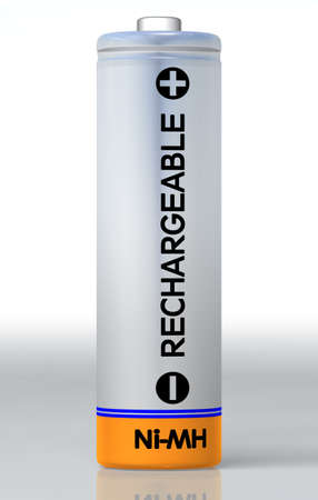 Simple batterie tr�s d�taill�e et en haute r�solution avec terrain de r�flexion.  Banque d'images