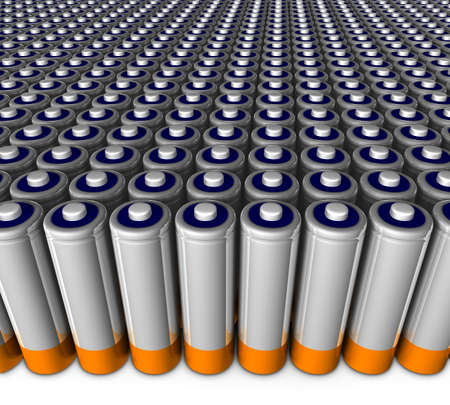 discharge: Army of batteries ready to use.