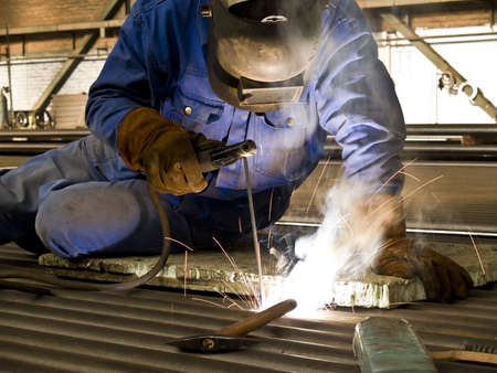 Welder in action.