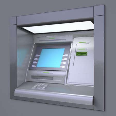 Illustration 3D de l'ext�rieur ATM machine Banque d'images