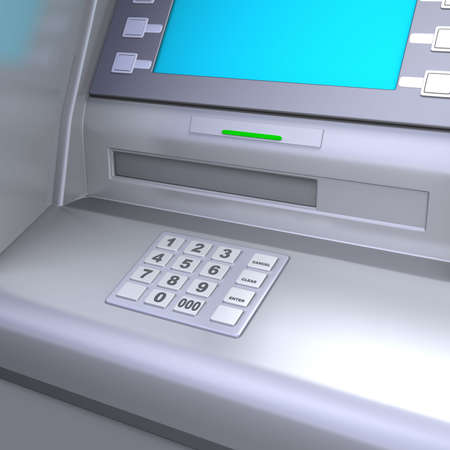 checking accounts: Close up of an ATM machine.