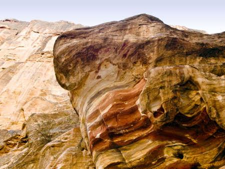 nabatean: Background wall of Nabatean passage in Petra (Al Khazneh), Jordan.  Siq canyon.