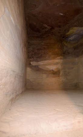 tomb empty: Treasury temple inside of Nabatean temple or tomb