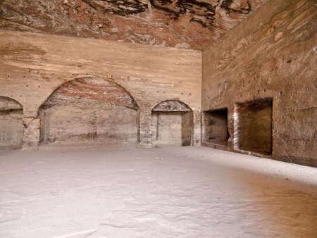 khazneh: Urn Tomb - Nabataeans capital city (Al Khazneh) , Jordan. Roman Empire period.