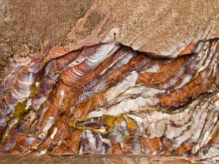 nabatean: Urn tomb wall texture  of Nabatean passage in Petra (Al Khazneh), Jordan.  Siq canyon. Stock Photo