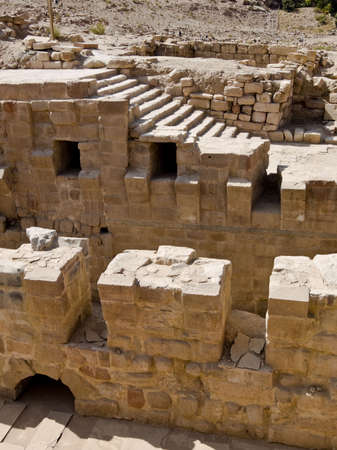 remains: Roman ruins - Nabataeans capital city (Al Khazneh) , Jordan. Roman Empire period.