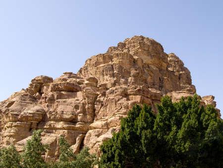 khazneh: Landscape in Petra - Nabataeans capital city (Al Khazneh) , Jordan. Stock Photo