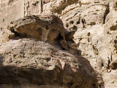 khazneh: Backgrounds of Petra - Nabataeans capital city (Al Khazneh) , Jordan. Stock Photo
