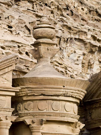 remains: Close up of urn at Monastery, Petra, Jordan