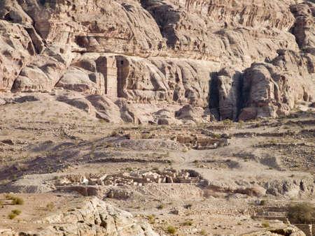 nabataeans: Landscape of Petra - Nabataeans capital city (Al Khazneh) , Jordan.