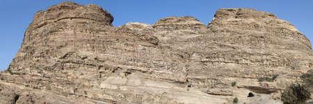 khazneh: Hill in Petra (Al Khazneh), Jordan.