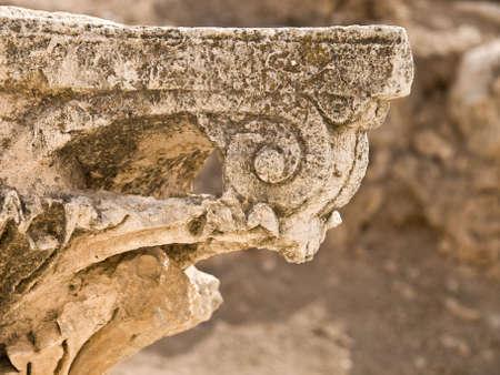 middle joint: Main street - cardo detail in Roman city. Jerash, Jordan