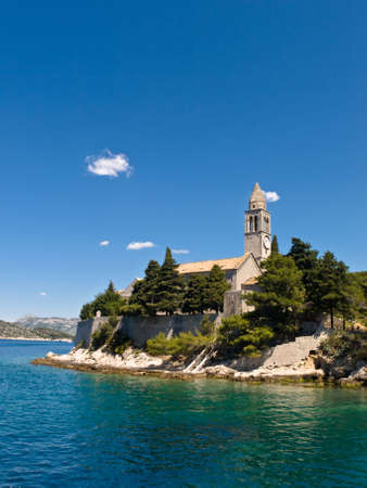Catholic monastery on island Lopud, near Dubrovnik, Croatia.