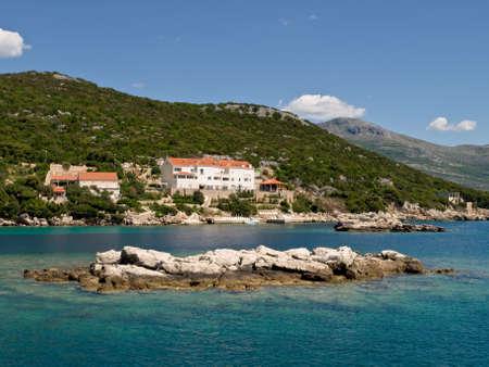 paisaje mediterraneo: Paisaje mediterr�neo - Mar Adri�tico. Ubicaci�n isla cerca de Dubrovnik, Croacia