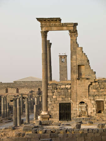 syria: Antiken r�mischen Stadt Bosra Zeit in Syrien. Theater Details.