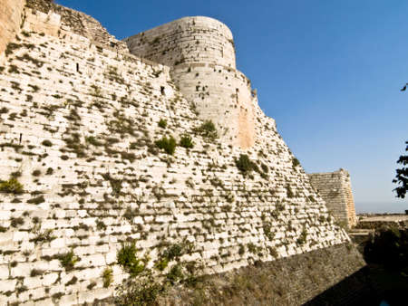 bulwark: Krak des Chevaliers (Crac des Chevaliers) is a Crusader fortress in Syria Stock Photo