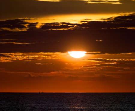 adriatic: Adriatic sea sunset with clouds