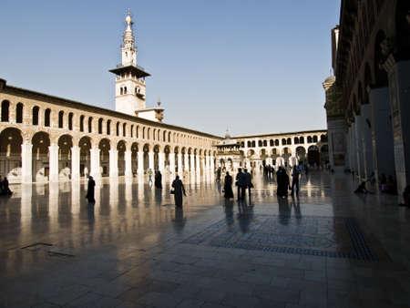 Le tour de la mosqu�e des Omeyyades � Damas, en Syrie. Temple romain, byzantin et de l'�glise avant la conqu�te islamique du Levant.