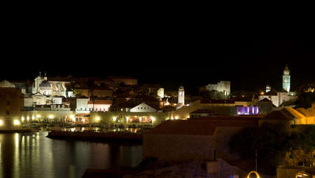 well known: Dubrovnik old town by night. Long exposure.